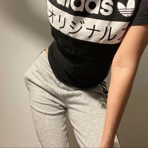 Adidas sweat pants/ slim fit